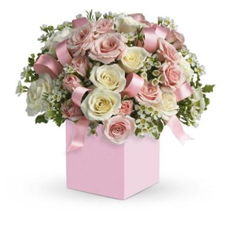 Pink and White Rose Box