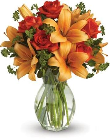 Lily Rose Vase Bouquet